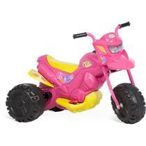 Moto Eletrica Rosa XT3 Fashion 6V Bandeirante -