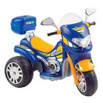 Moto Elétrica Sprint Turbo Azul 12V C/Capacete 671 - BIEMmE -