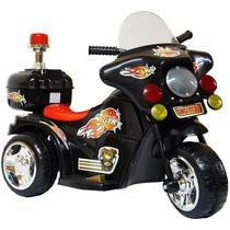 Moto Elétrica Triciclo Infantil Bivolt Preto a partir de 3 anos - Importway