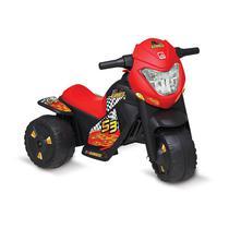 Moto Elétrica Triciclo Infantil Criança Bandeirante Banmoto Preta -