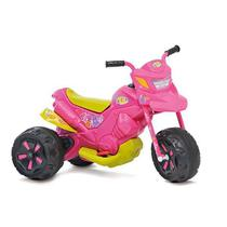 Moto Eletrica XT3 6V Duas Marchas Fashion Rosa Bandeirante 2701 -