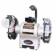 Moto Esmeril 6 POL 1/2 HP MR-032.15 c/ Iluminação e Proteção Acrílica com Lupa MANROD -