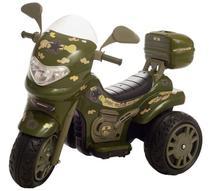 Moto Infantil Elétrica Sprint Turbo Militar 12v Capacete Biemme -
