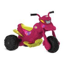 Moto Infantil XT3 Fashion Elétrica 6v Rosa Bandeirante 2701 -
