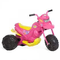 Moto Infantil XT3 Fashion Elétrica 6V Rosa Brinquedos Bandeirante Rosa -