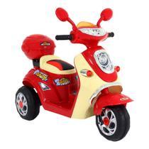Moto Lambreta Elétrica 1 Lugar Infantil 6v Vermelha Bel -