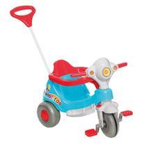 Moto Triciclo Infantil Calesita Velocita C/Proteção Azul E Vermelho -