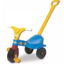 Motoca Infantil Triciclo Azul com Empurrador - Lugo Brinquedos