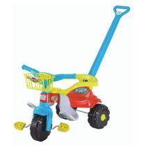 Motoca Tico Tico Festa Menino Azul Haste Protetora Triciclo - Magic Toys