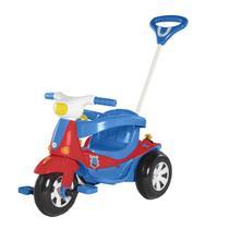 Motoca Triciclo Elétrico Infantil 3 Em 1 Calesita Velotri Azul/Vermelho -