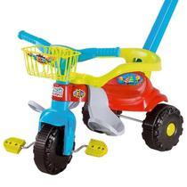 Motoca Triciclo Festa Azul com Cestinha - Magic Toys