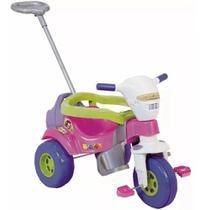 Motoca Triciclo Tico Tico Bichos Rosa C/ Som e Luz -Magic Toys -