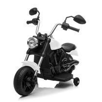 Motocicleta Elétrica Branca (652) - Bang Toys