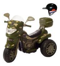 Motocicleta Moto Elétrica Militar 12v Sprint Turbo Capacete - Biemme