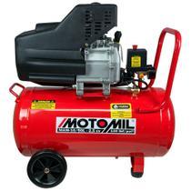 Motocompressor de Ar 8,8 Pés 3/min 2,5HP 50L  MAM-10/50BR 110/220V - Motomil -