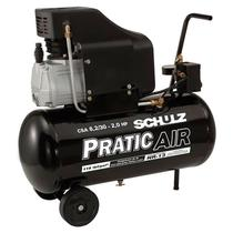 Motocompressor de ar csa-8,2/25 litros 2hp pratic air schulz -