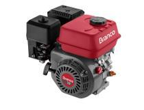 Motor a Gasolina de 7 CV e 4 Tempos Eixo Horizontal Modelo Branco B4T 7,0 CV -