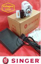 Motor máquina costura Doméstica  Singer 110v- Pedal Eletrônico -