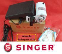 Motor máquina costura Doméstica Singer 127V - c/ Pedal Eletrônico (reostato) -