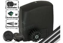 Motor Portão Rcg 300kg Veloz Deslizante De Correr Clean 2c + 3m -