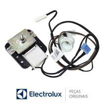 Motor Ventilador, Sensor e Soquete Lâmpada 127V 70201413 Geladeira Electrolux DF80 DF80X DFI80 DI80X -