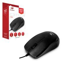 Mouse C3Tech MS-25BK, USB, 1000 DPI, Preto -
