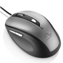Mouse Com Fio USB Comfort 6 Botoes Cinza/Preto MO242 Multilaser