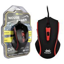 Mouse Gamer 2400 Dpi 6 Botões Vermelho Knup KP-V24 KP-V24 KNUP -