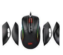 Mouse Gamer 7 Botões Macro 14400dpi Ajuste De Pegada Led Rgb Titan Ms318 Oex -