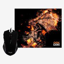 Mouse Gamer e Mousepad OEX Combo Arena MC102 Preto -