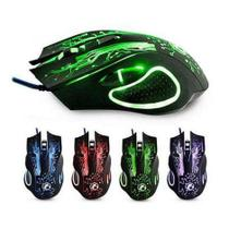 Mouse Gamer Estone X9 Usb Led Óptico - Bcs