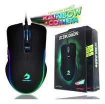 Mouse Gamer Iluminado Rgb 6400 Dpi 7 Botões Usb Óptico - IMPORT TS
