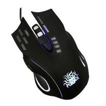 Mouse gamer nemesis 6 botões 2400dpi black palm grip design ergonômico dpi ajustável plug and play -
