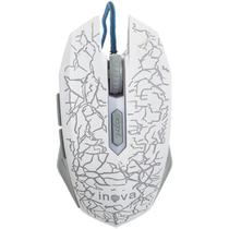 Mouse Gamer Optico Cabo USB Com Led 800 DPI Mou-6912 Branco - Inova