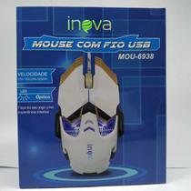 Mouse gamer óptico inova  c/fio usb velocidade 3200 mou-6938 cores -