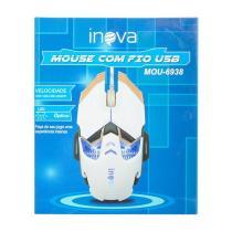 Mouse Gamer Óptico Profissional Com Fio Usb 3200Dpi Mou-6938 - Inova