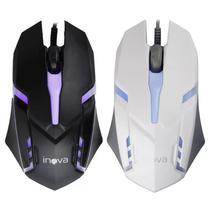 Mouse Gamer Optico Usb 800dpi Branco Ou Preto - 7096 - Inova
