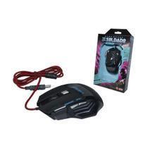 Mouse Gamer Soldado com Conexao USB Resolucao de 3000 DPI com Botoes de Acesso Rapido Preto GM-700 GM-700 Infokit -