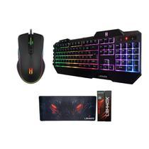 Mouse Gamer teclado Com Leds e MousePad - Lehmox