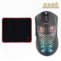 Mouse Gamer Ultraleve 65 Gramas Profissional Para Jogos Rgb - Evolut