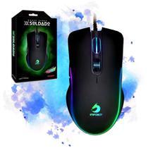 Mouse Gamer Usb 6400dpi Infokit XSoldado Gm-v550 Led Rgb -