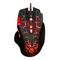 Mouse gamer usb 8 botões led até 3200dpi cabo tecido 1,5m  - mu2907 hayom -