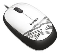 Mouse Logitech M105 C/fio Usb Optico Branco Preto Original -