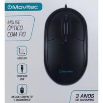 Mouse Óptico com fio Movitec -