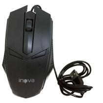 Mouse Óptico Com Fio USB 800Dpi Inova MOU-6935 Preto - INOVA BLISTER -