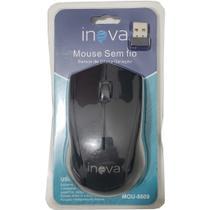 Mouse Óptico Sem fio 1000DPI Ergonômico Inova MOU-8609 Preto -