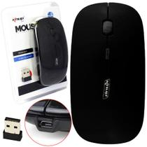 Mouse Optico Sem Fio Wireless 2.4Ghz Preto - Knup