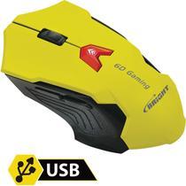 Mouse Optico USB Gaming Amarelo 2400DPI 6BOT BRIGHT/MAXELL -