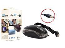 Mouse Optico USB para PC e Notebook Preto KP-M611 KP-M611 KNUP -