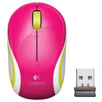 Mouse Otico Logitech M187 USB Mini Wireless Rosa